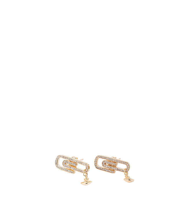 Yellow Gold Doreen Paper Clip Earrings