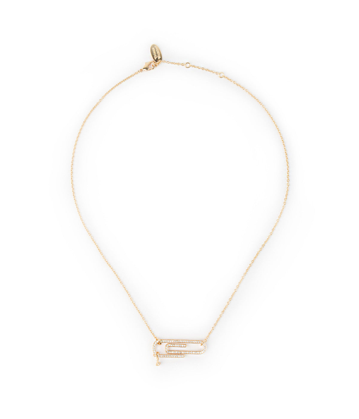 Yellow Gold Paperclip Necklace