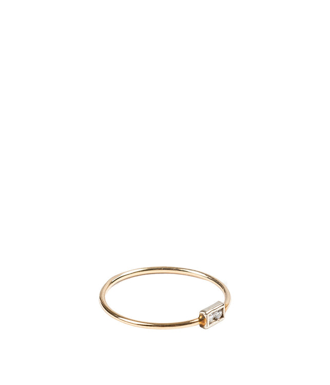 Skinny Rectangular Diamond Ring