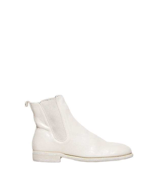 White Mid Chelsea Boots