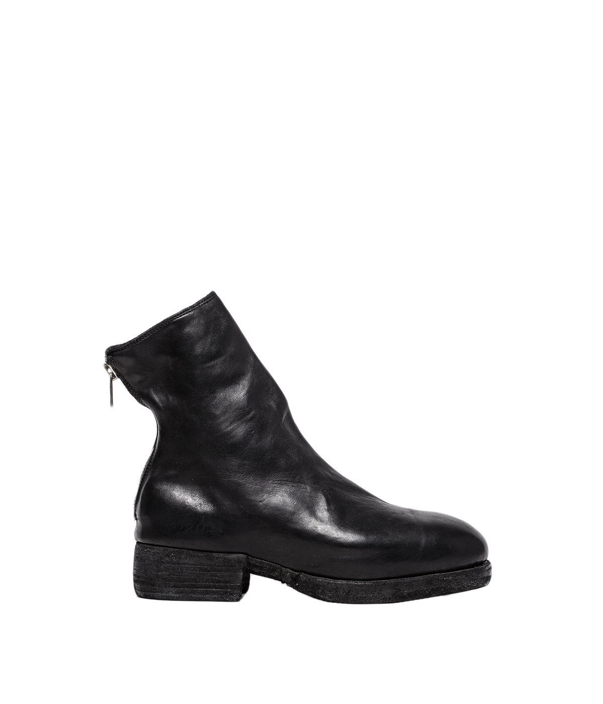 Black Back Zip High Boots
