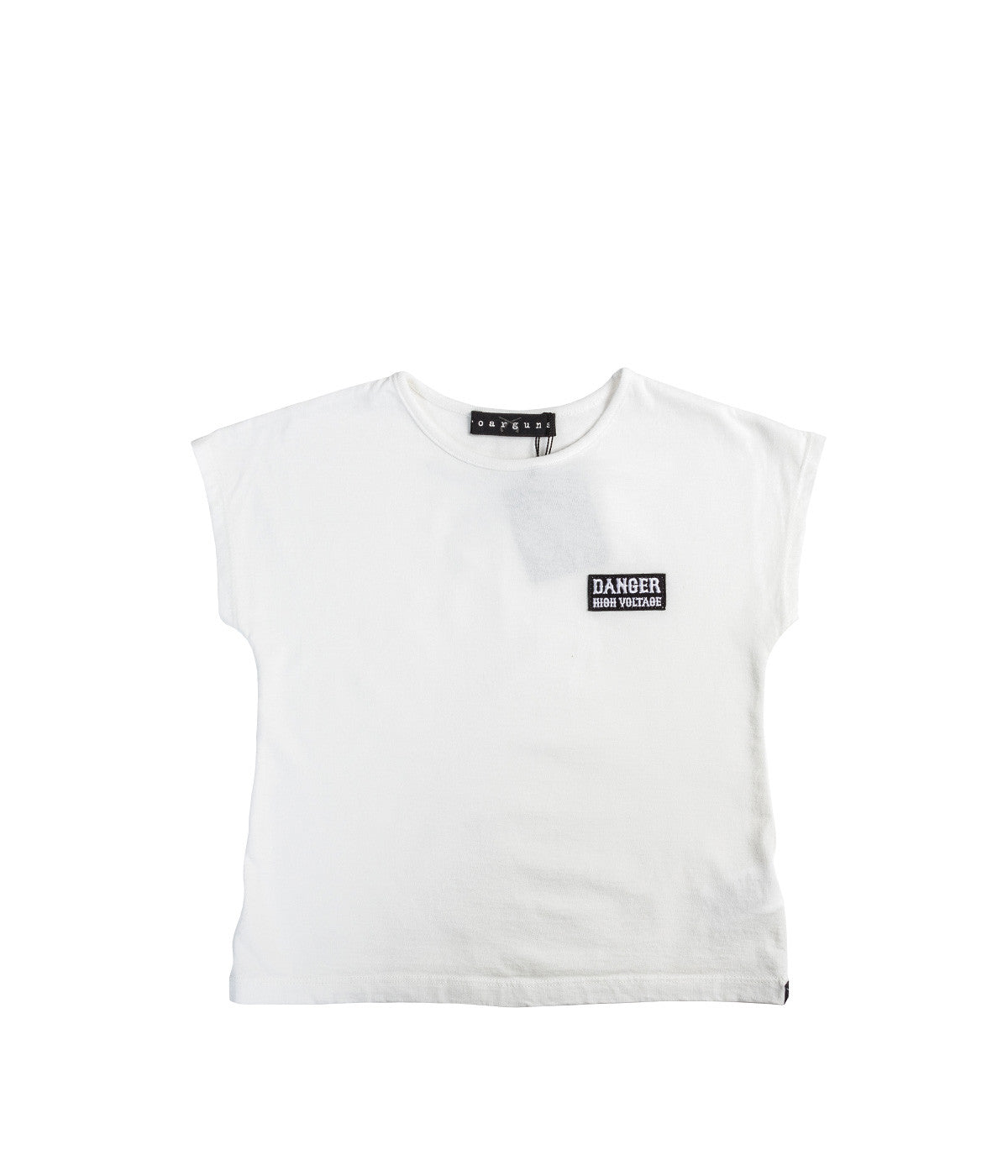 White Cropped Mini T-Shirt