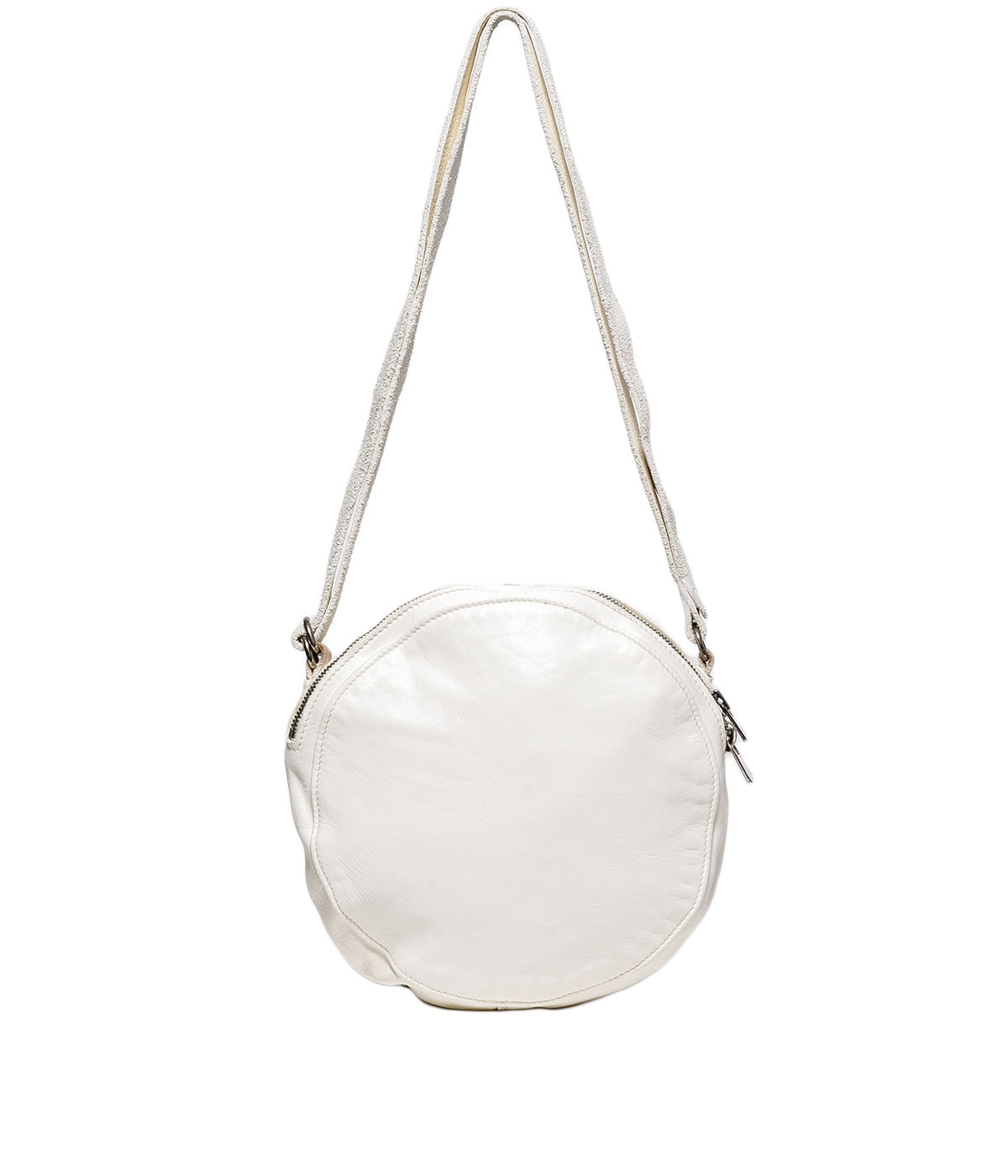 White Oval Crossbody Bag