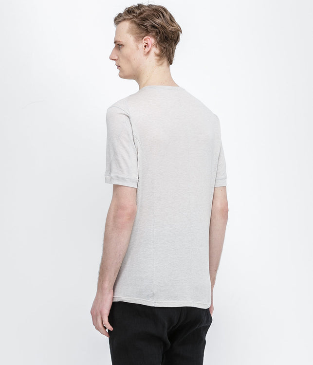 Light Grey Silk Jersey T-Shirt