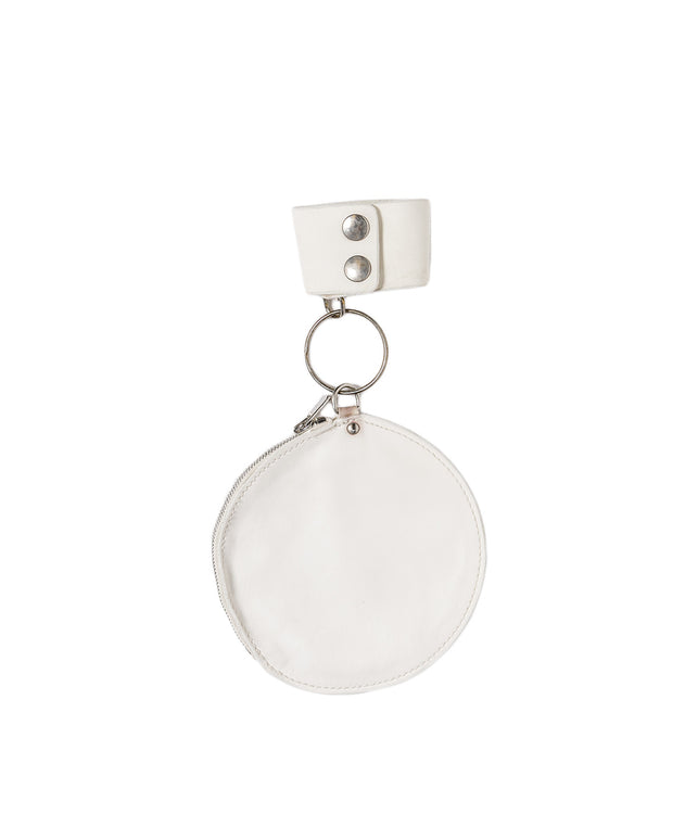 White Round Coin Pocket