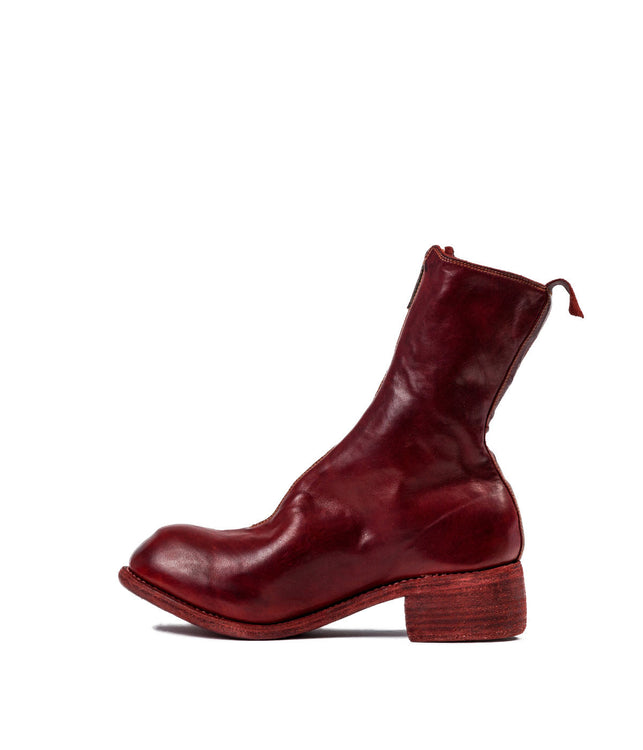 Red Orthopaedic Zip-Up Boots