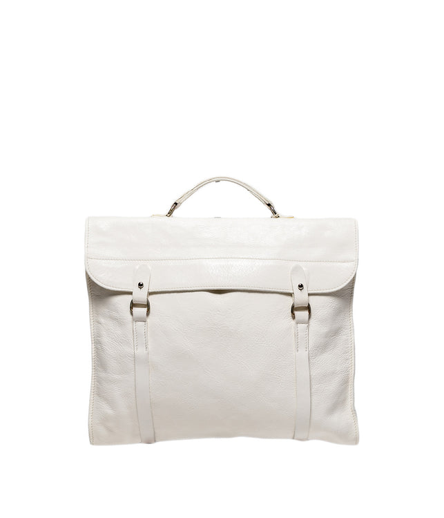 White Long Briefcase