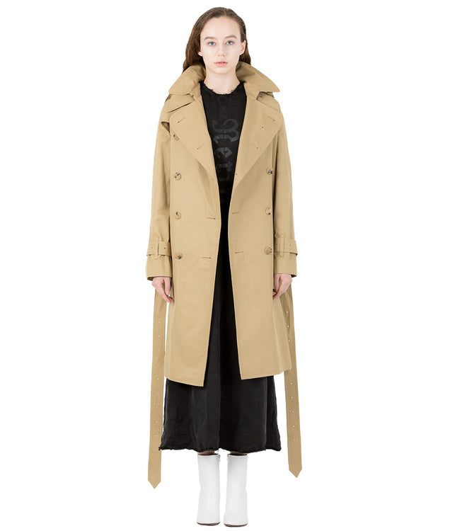 Beige Oversized Trench Coat