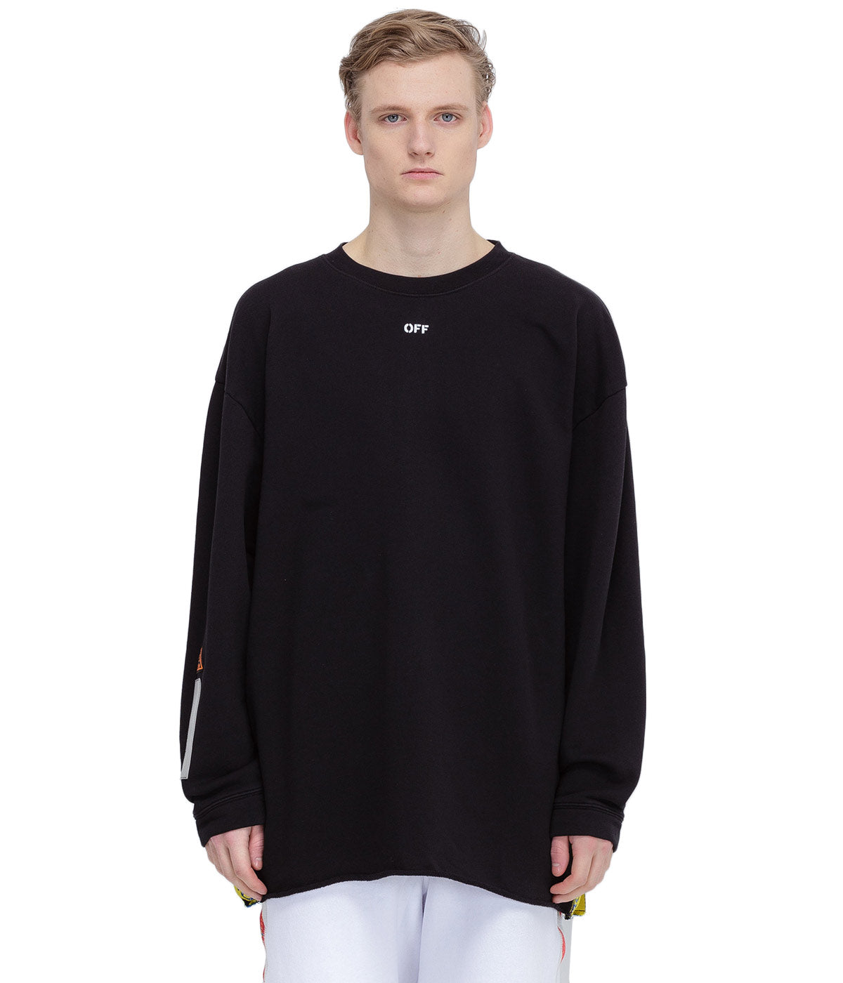 Black Tape Over Sweatshirt