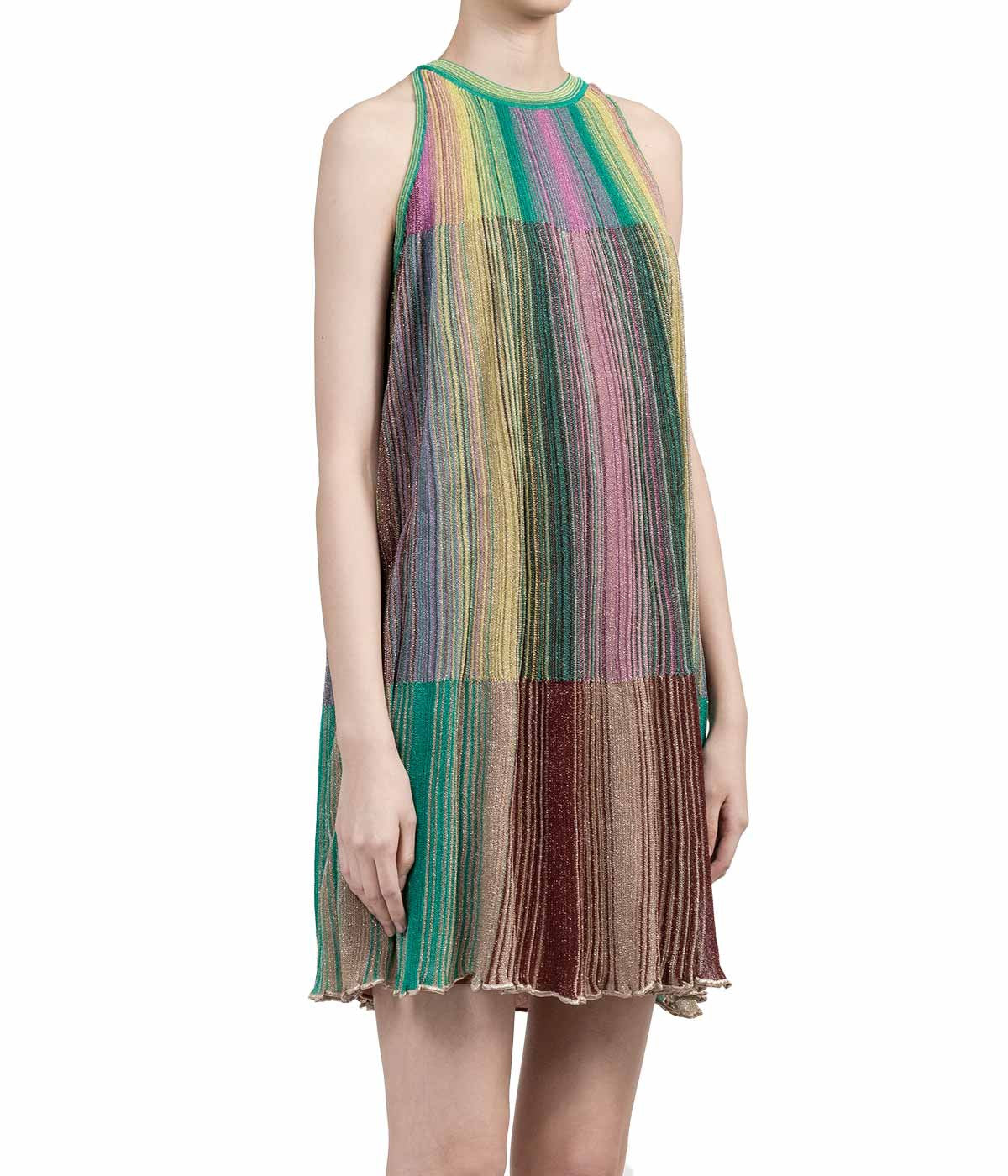 Green Striped Tulle Dress