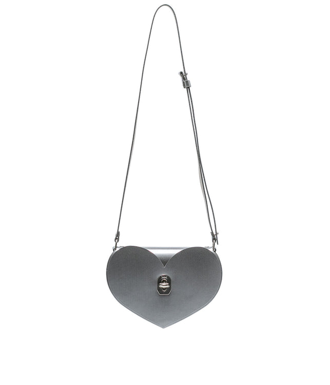 Silver Heart Shoulder Bag