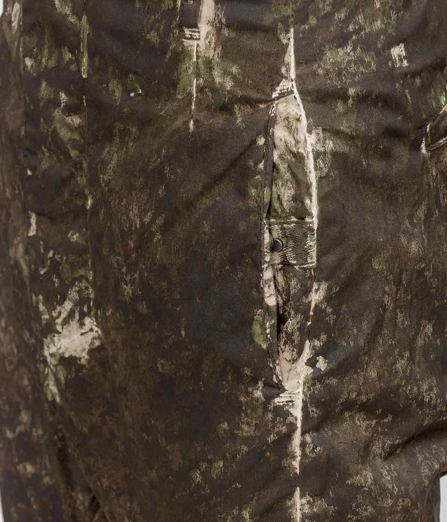 Camo Dropped Crotch Painted Cotton Trousers