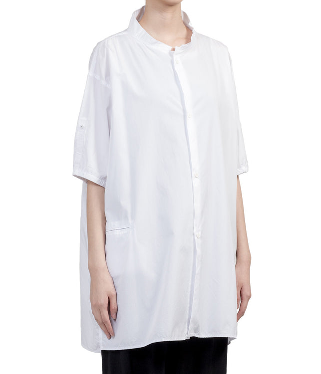 White Convertible Sleeves Shirt