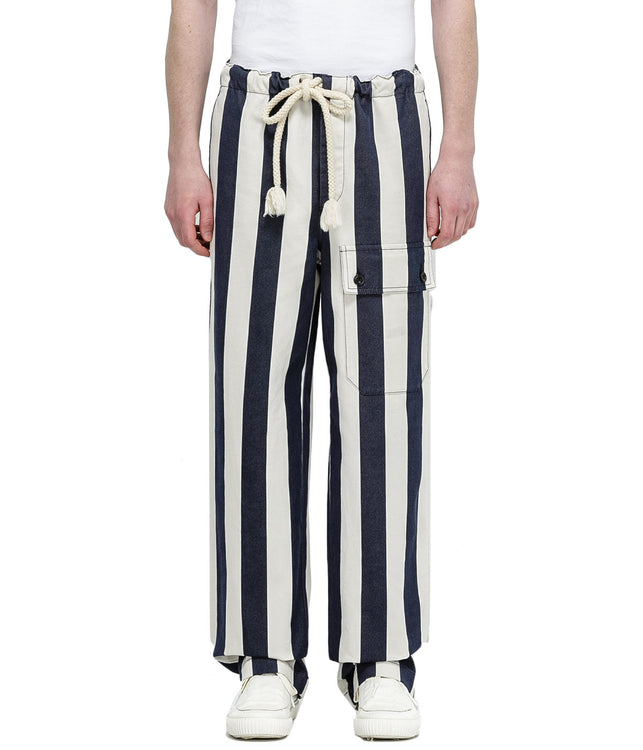 Ivory Striped Pants