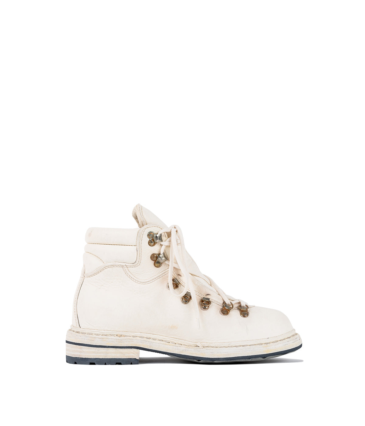 White Full Grain Hiking Boots