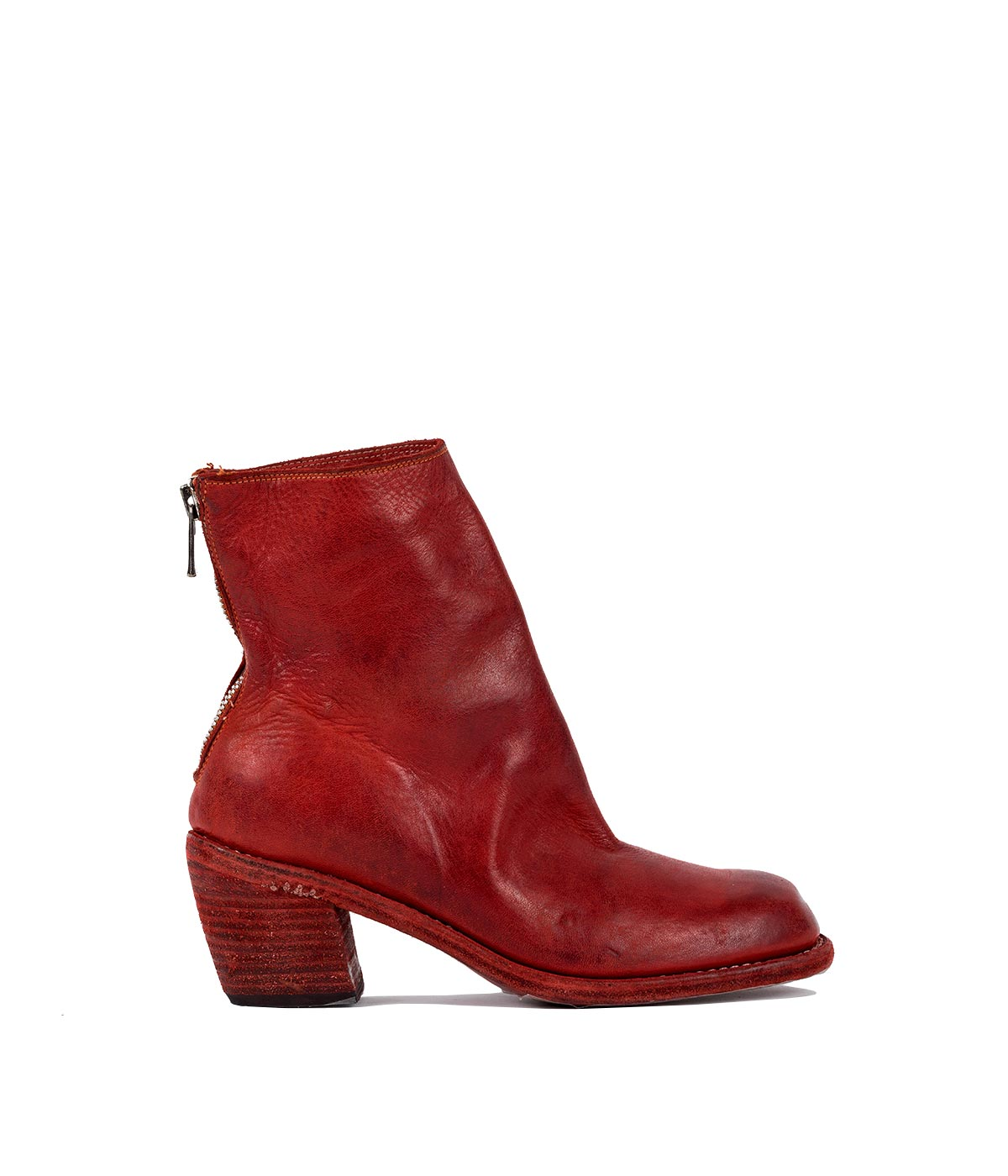 Red Zip Up Cuban Boots