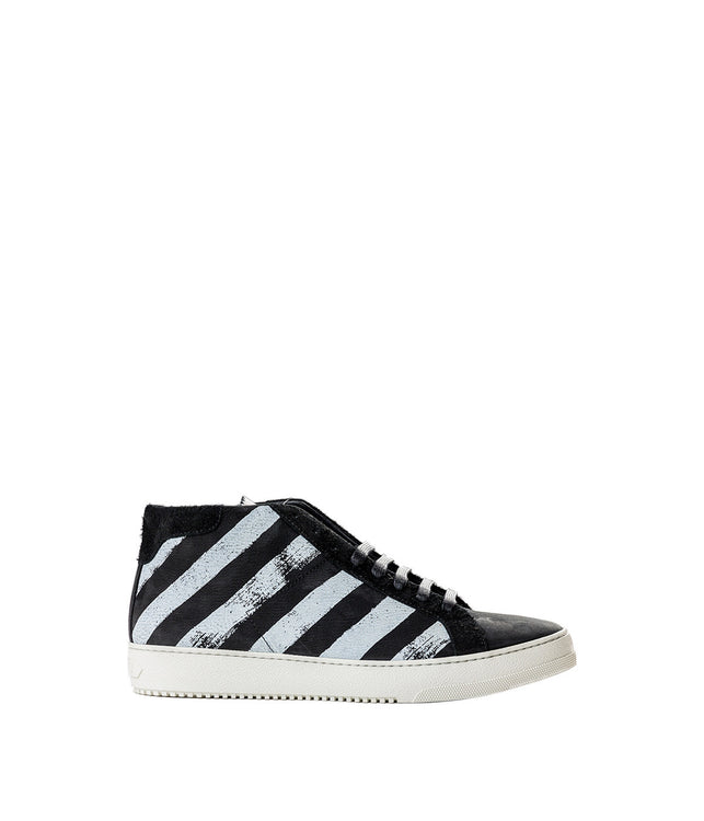 Black Brushed Diagonals Sneaker