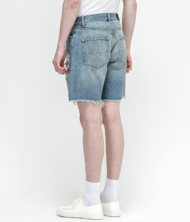 Indigo Thrasher Denim Shorts