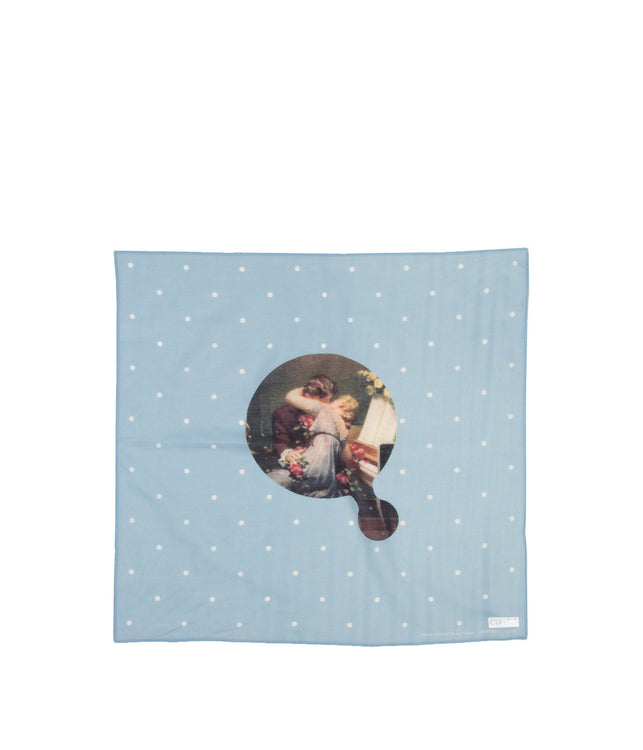 Light Blue 'Portrait in Jazz' Handkerchief