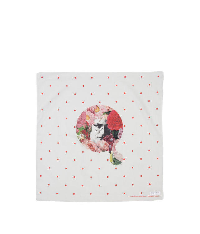 White 'Portrait in Jazz' Handkerchief