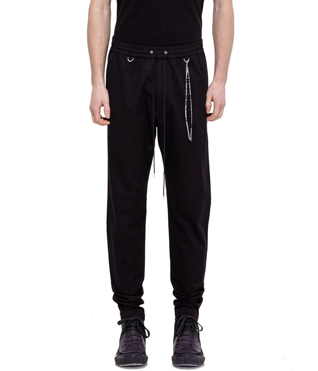 Black Denim Sweatpants
