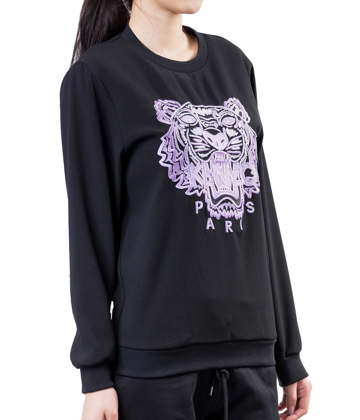 Embroidered Crepe Sweatshirt