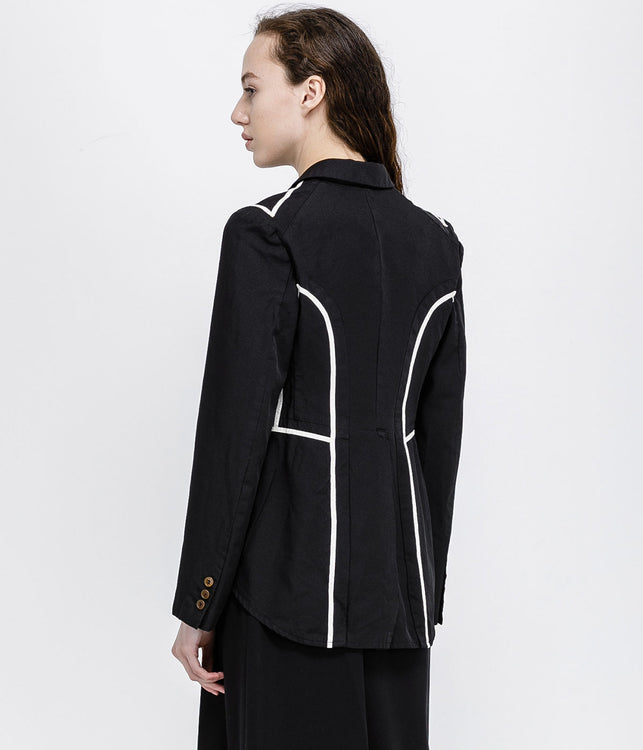 Black Taped Tuxedo Jacket