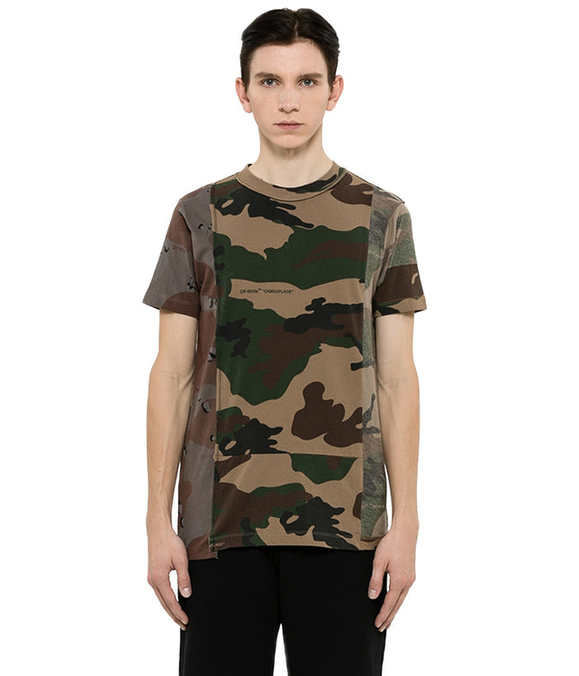 Camo Reconstructed Patchwork T-Shirt