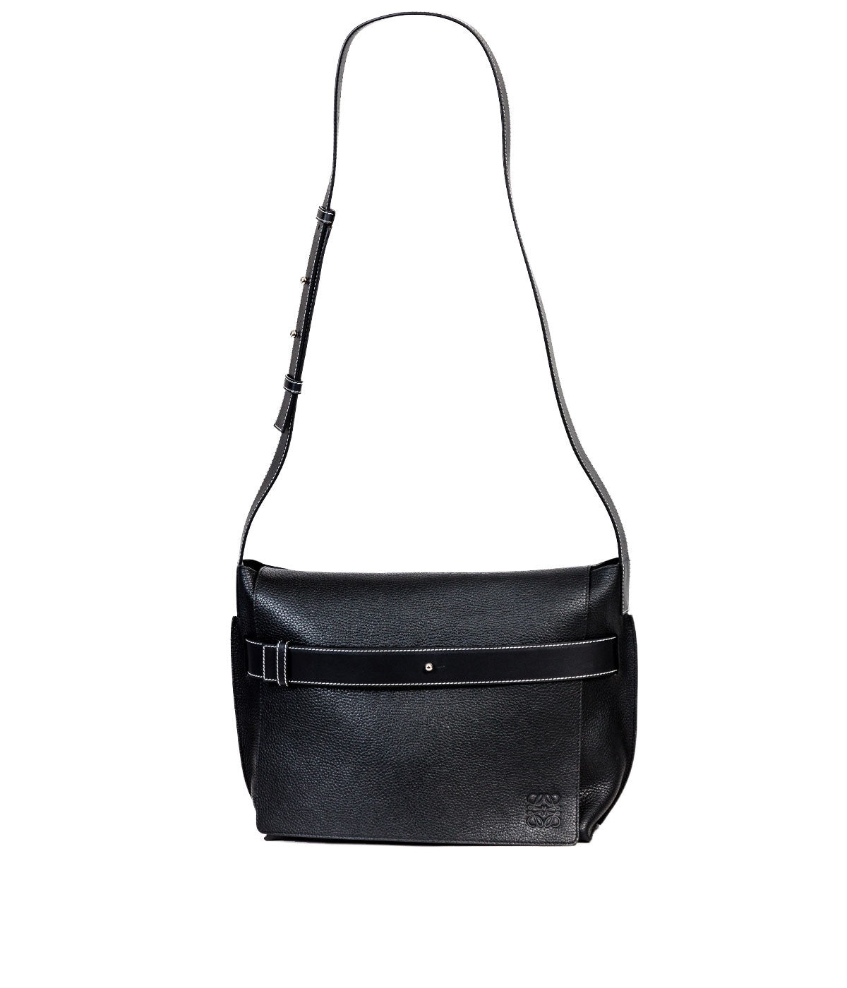 Black Belted Messenger Bag