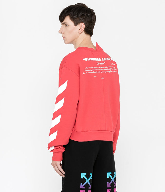 Red Bernini Spliced L/S Crewneck