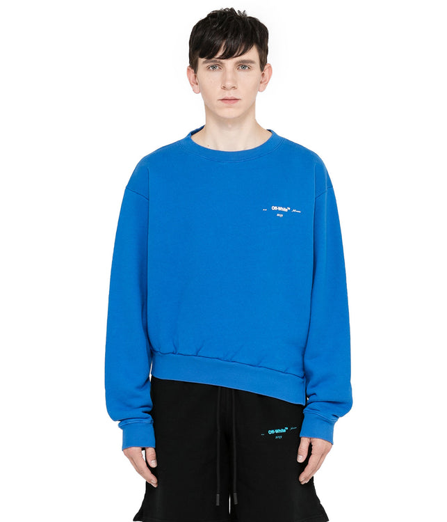 Blue Life Itself Spliced Crewneck