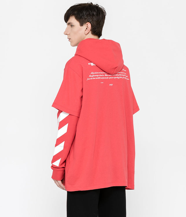 Red Bernini Spliced T-Shirt & Hoodie