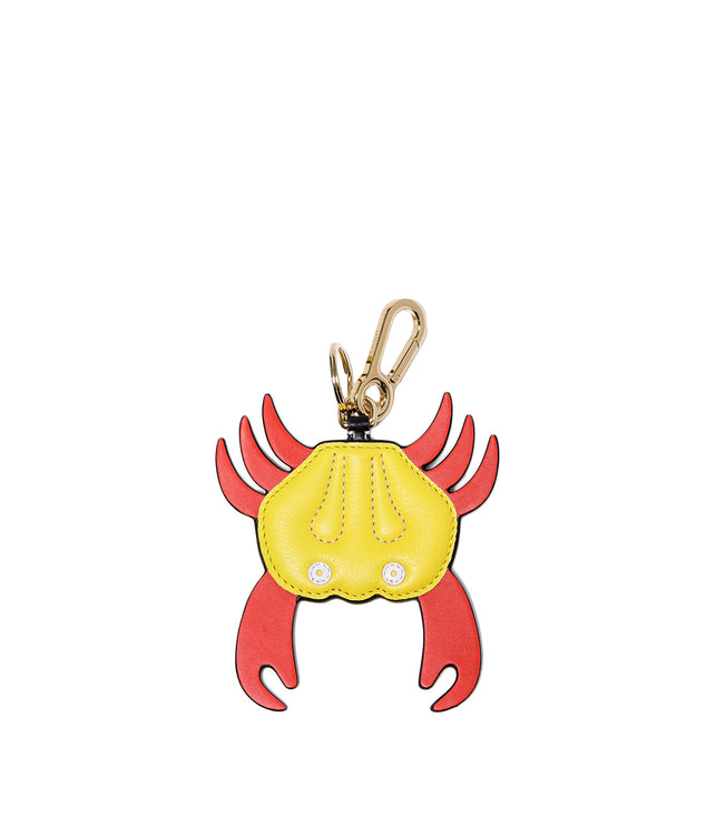 Yellow Crab Charm Keychain