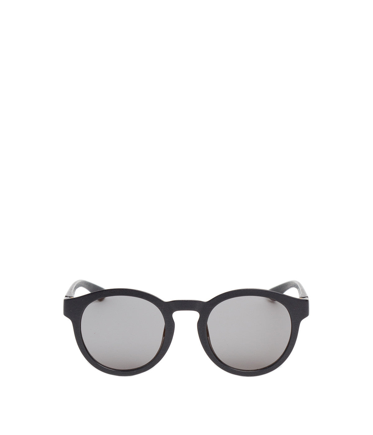Black Mylon Giba Round Sunglasses