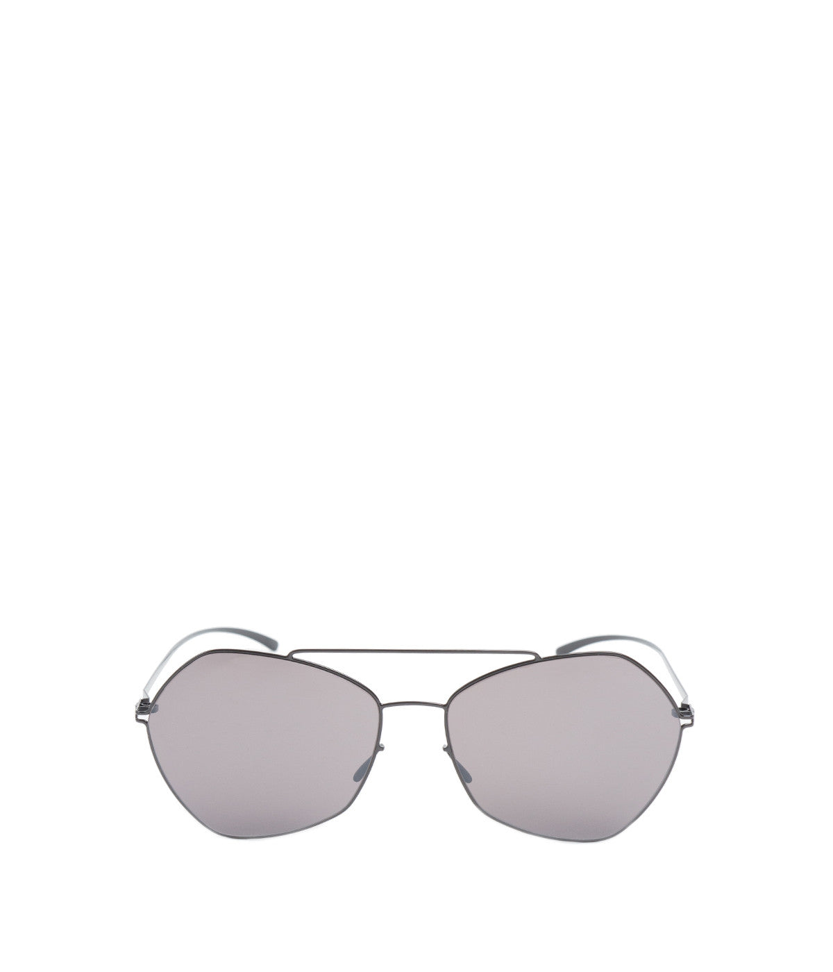 Dark Grey Pentagon Sunglasses