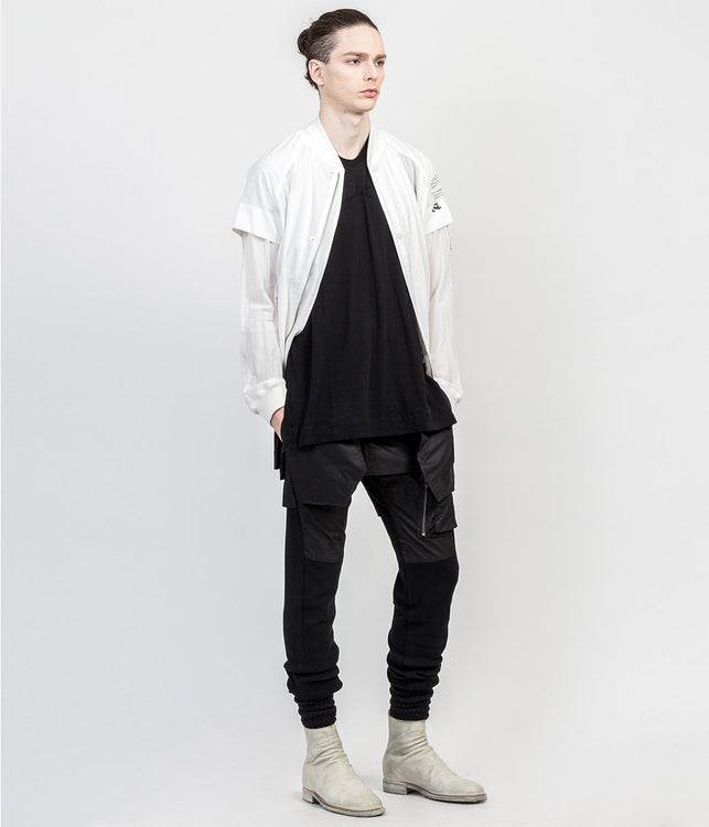 White Contrast Jacket