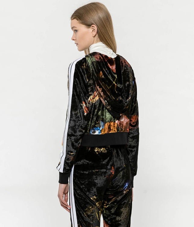 Floral Chenille Track Jacket