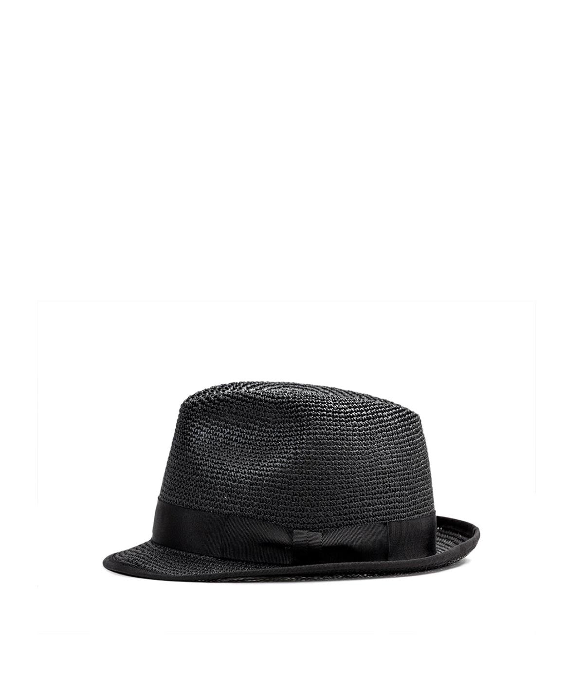 Straw Fedora with Grosgrain Trim