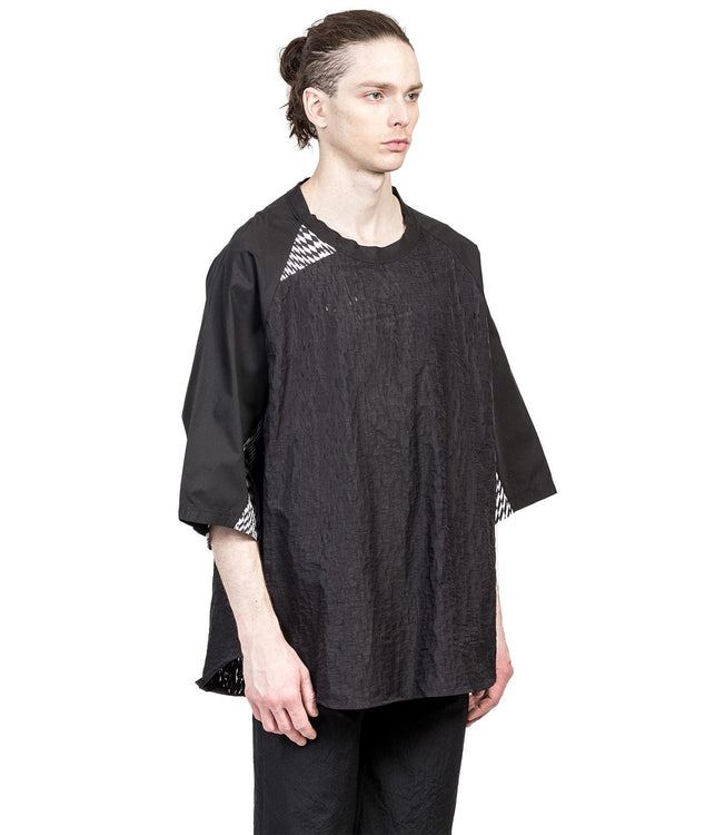 Black Cracked Tunic Shirt