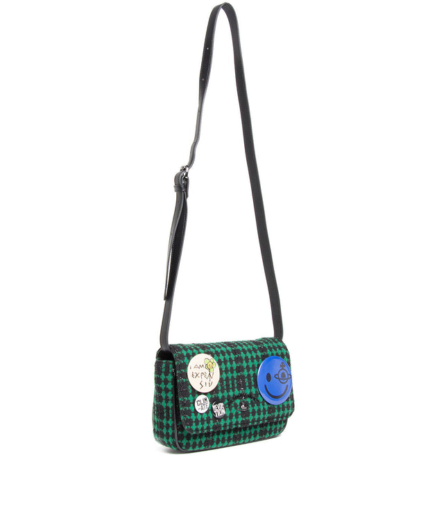 Green Tweed Convertible Belt Bag