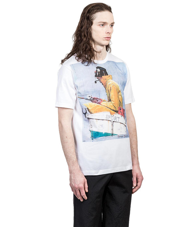 White Norman Rockwell T-Shirt
