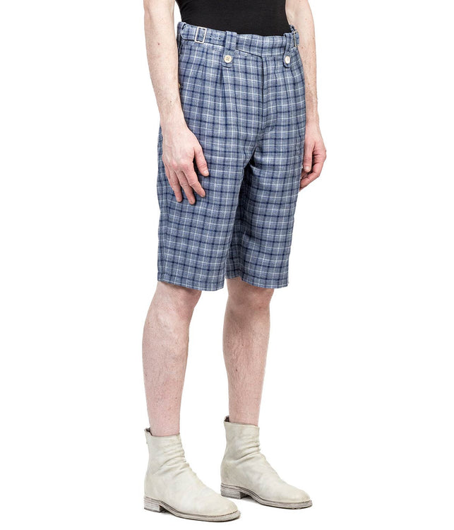 Blue Plaid Shorts