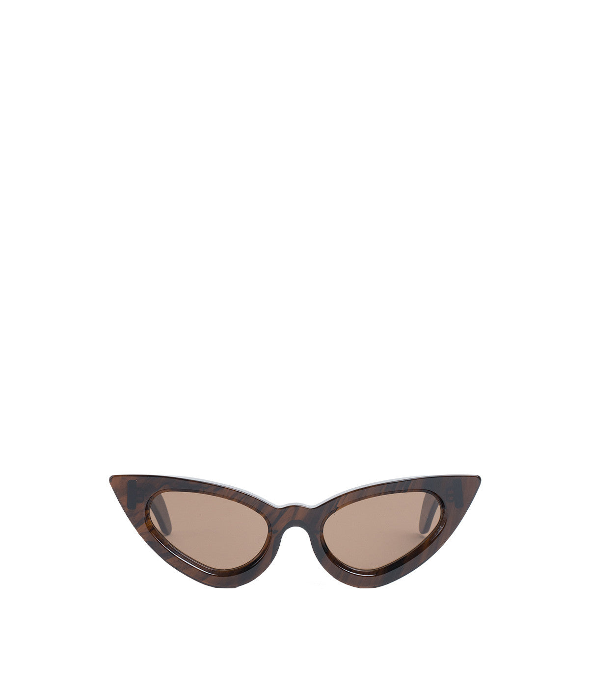 Y3 Brown Shiny Sunglasses