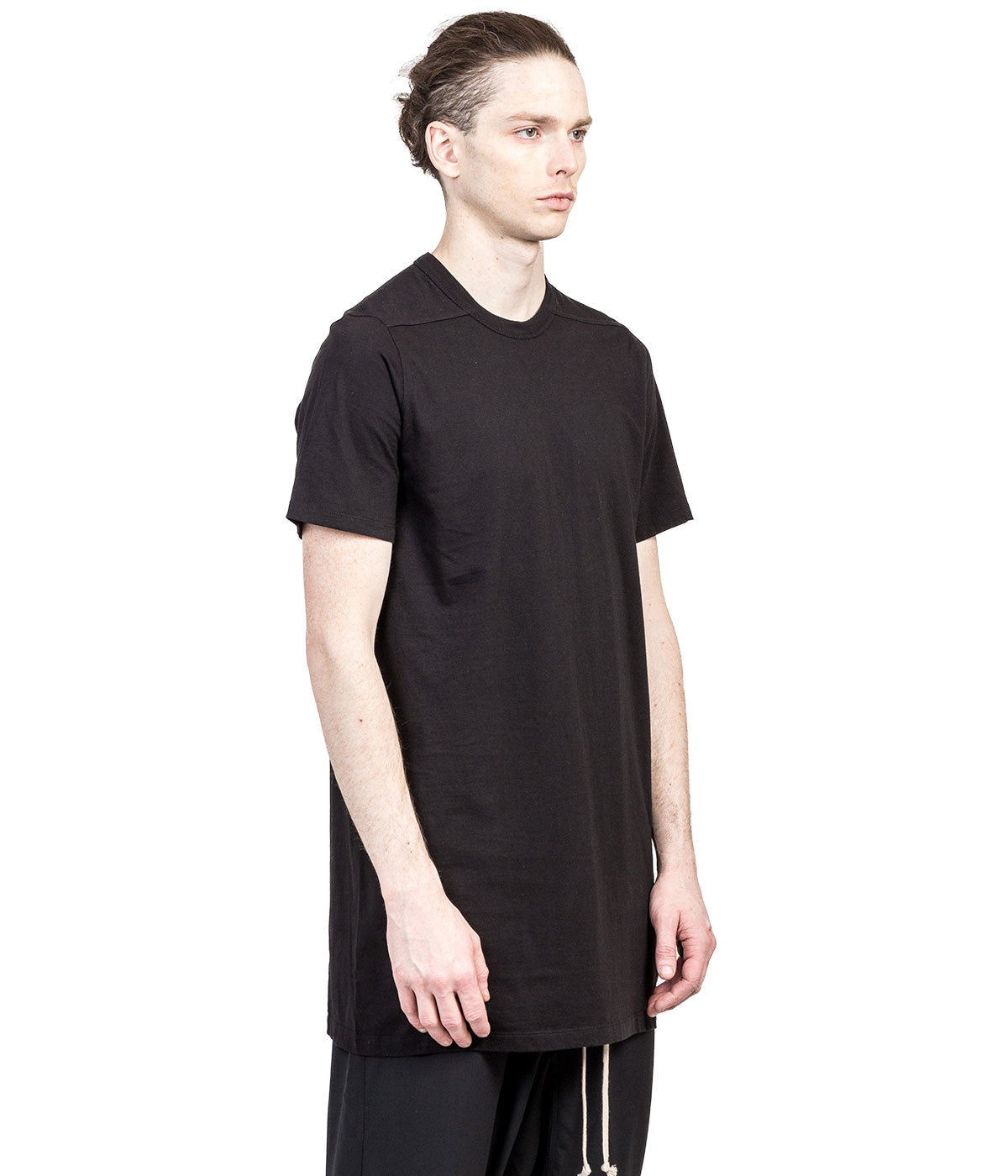 Black Overlong T-Shirt