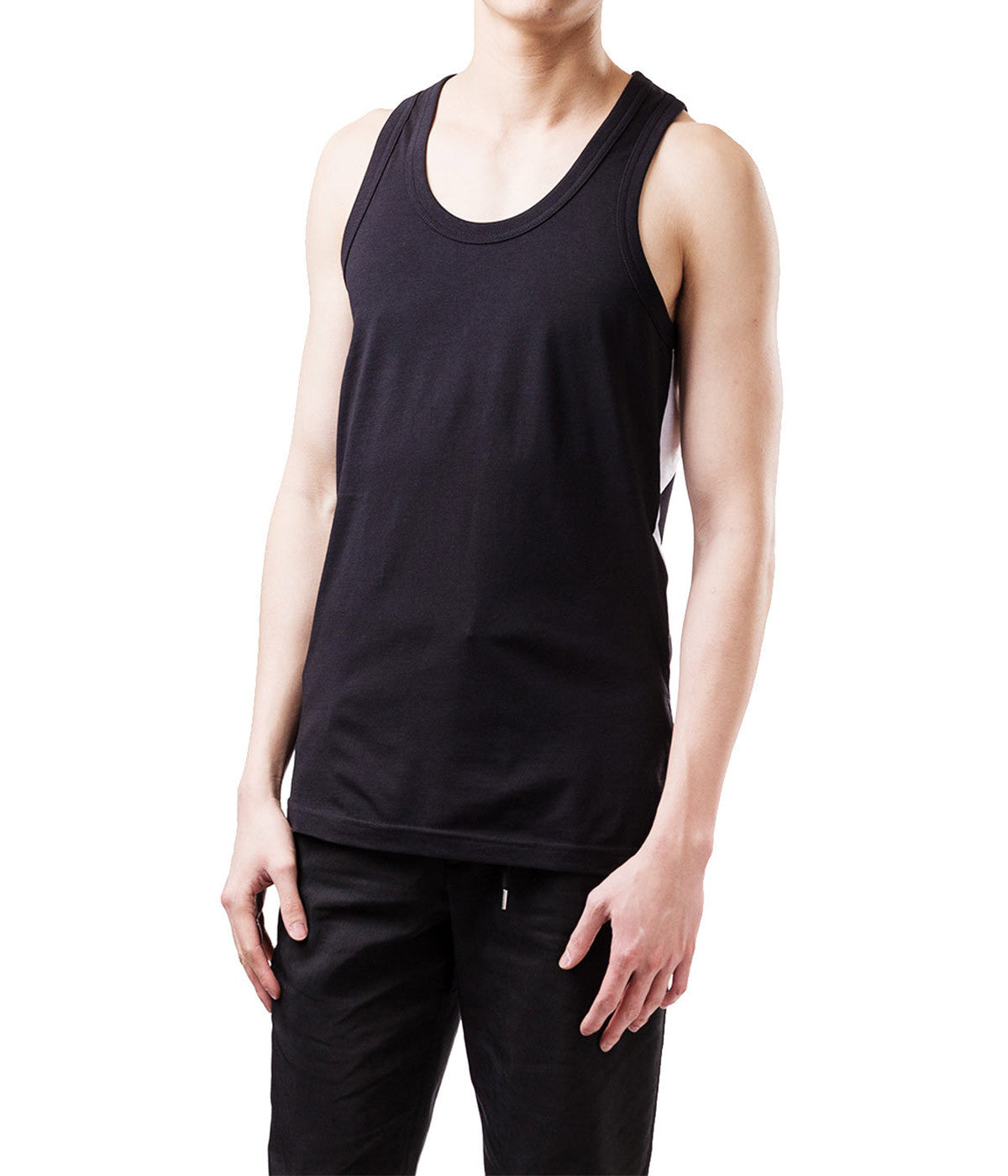 Panelled Logo Tank Top