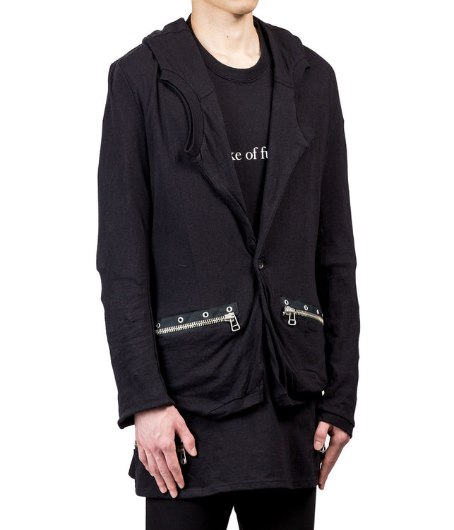 Black Structured Collar Blazer