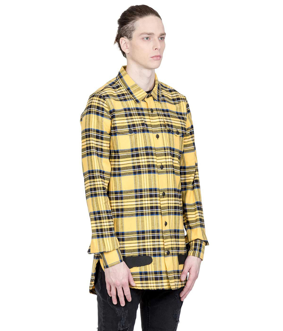 Yellow Tartan Flannel Shirt