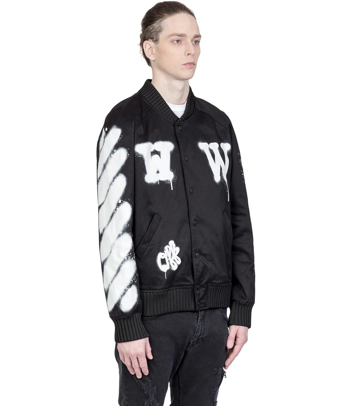 Black Graffiti Varsity Jacket
