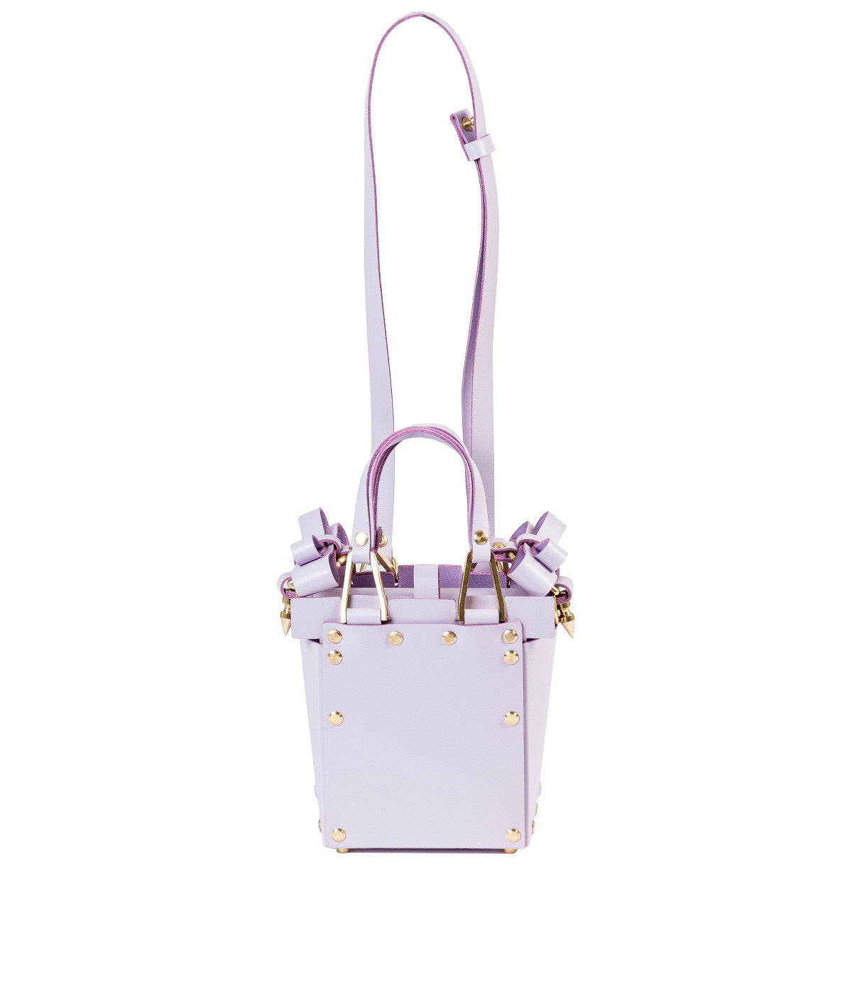 Small Lilac Purple Double Bow Shoulder Bag