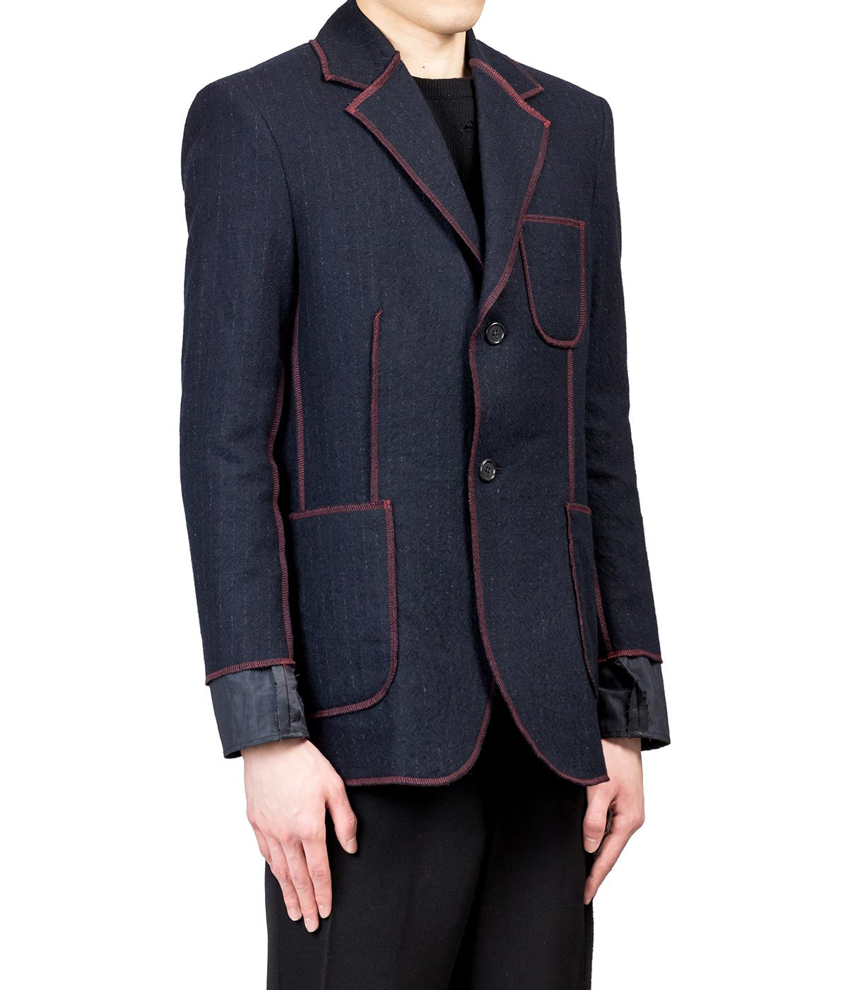 Navy Red Serged Blazer